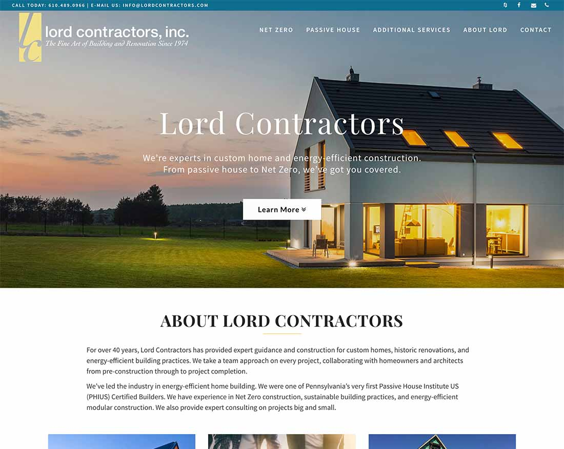 Lord Contractors Home